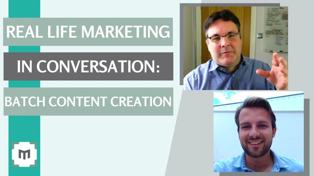 Content Marketing - Real Life Batch Content Creation Want to make 6 months video content in 3 days? In this 'Video Marketing in Conversation' we reveal how it's done. Ben Mariner and Jeremy Mason talk video marketing for business ...