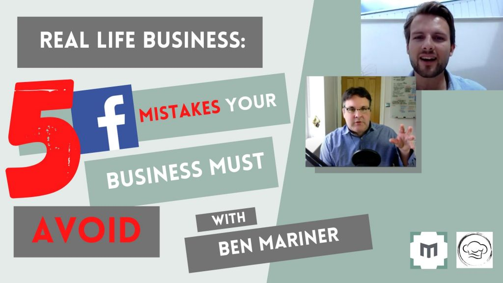 5 Facebook Marketing Mistakes Your Business Must Avoid. Revealed! 5 mistakes that are preventing businesses from succeeding on Facebook. Facebook marketing expert Ben Mariner talks about the pitfalls to avoid and shares 'Real-Life' Facebook Strategies he uses every day for his businesses and his clients.